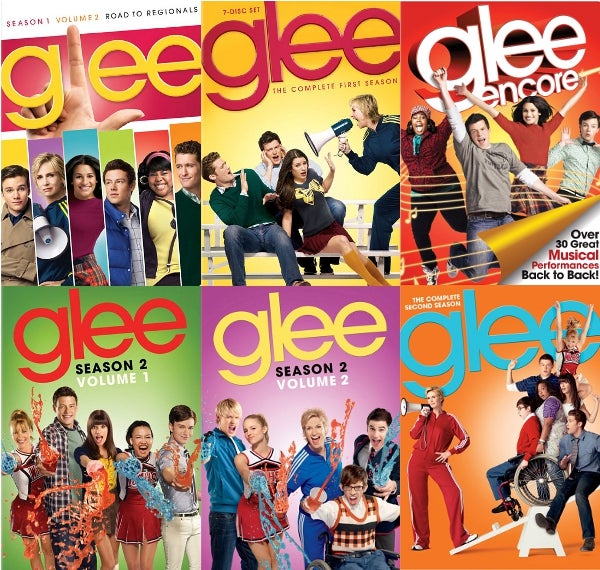 Glee DVD Collage