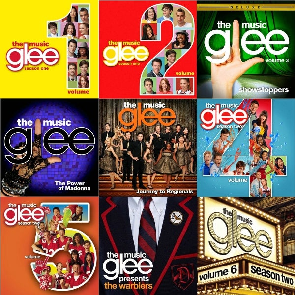Glee Music Collage