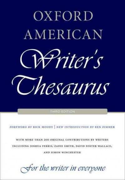 Oxford American Writer's Thesaurus (Hardcover)