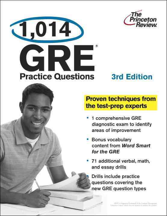 1,014 GRE Practice Questions (Paperback)