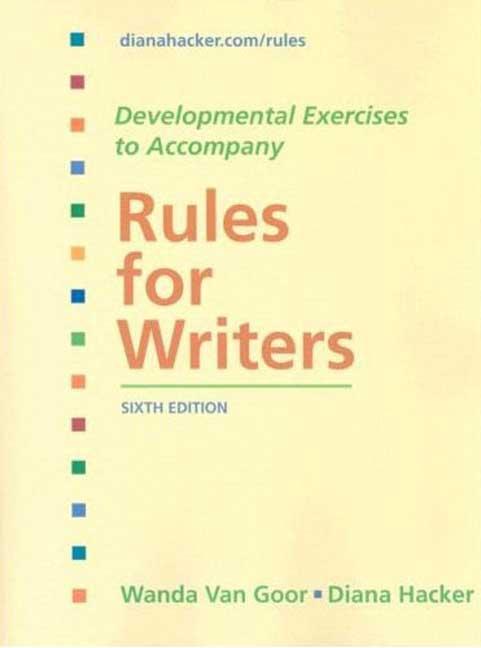 Rules for Writers: Developmental Exercises (Paperback)
