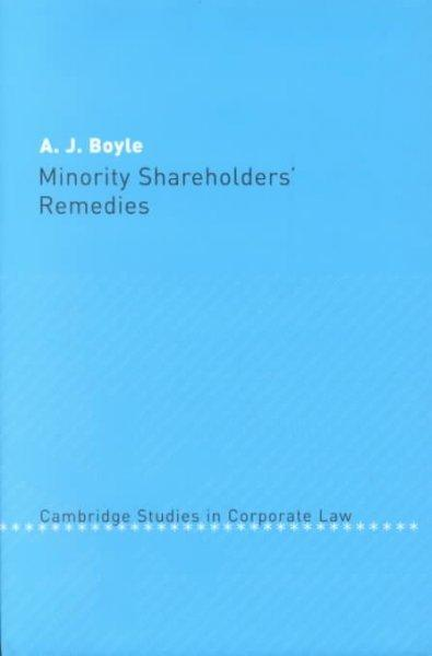 Minority Shareholders Remedies (Hardcover)