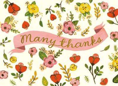 Sweet Floral Thank You Notes (Cards)