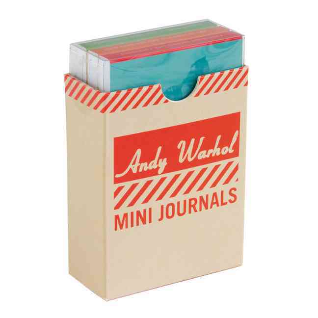 Andy Warhol Philosophy Mini Journals (Notebook / blank book)