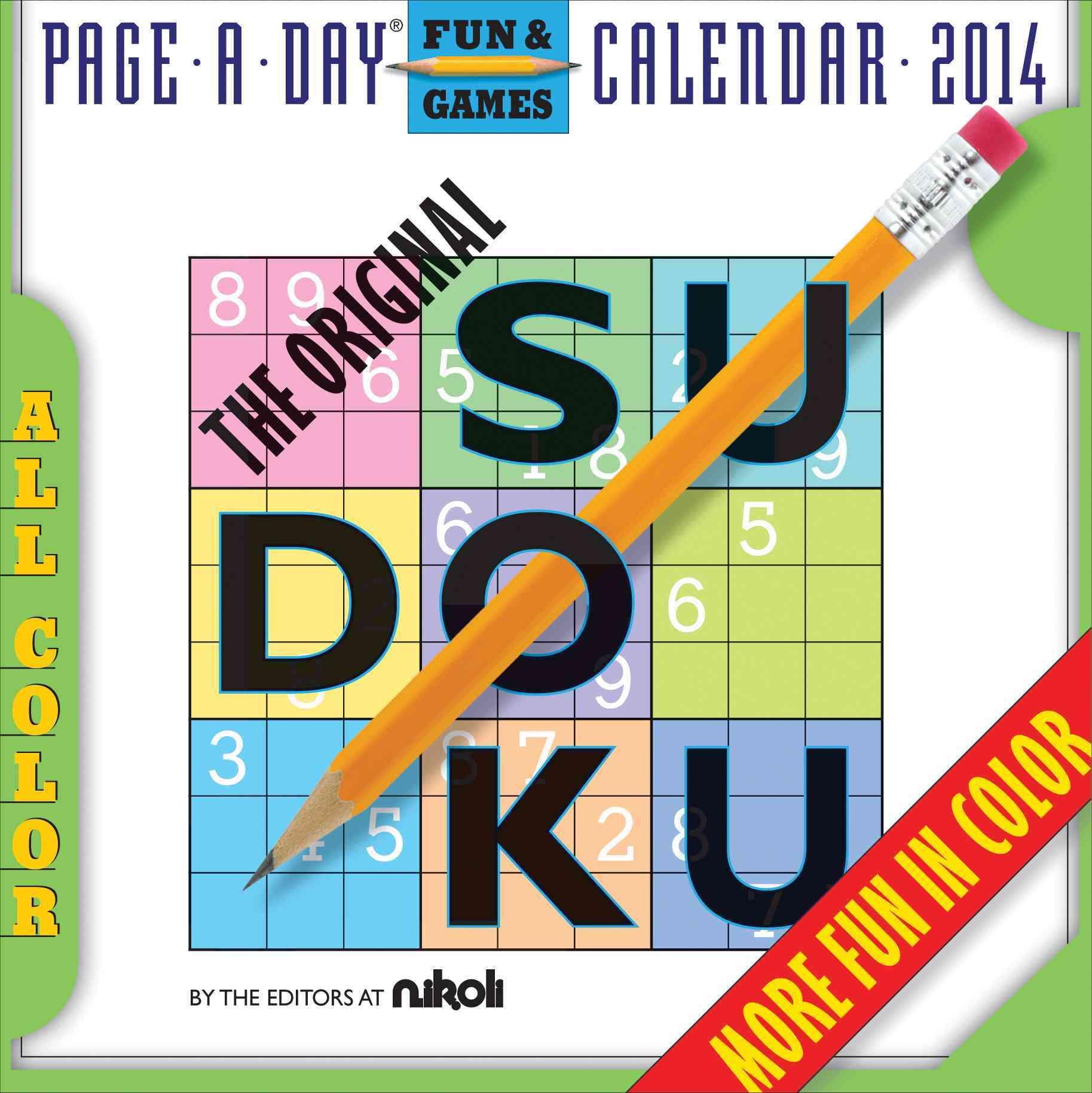 The Original Sudoku 2014 Calendar (Calendar)