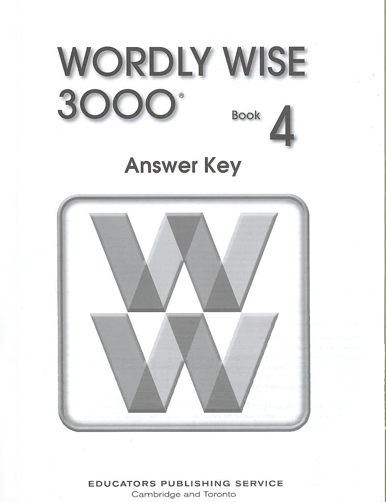 WORDLY WISE 3000 BOOK 4 (Paperback)