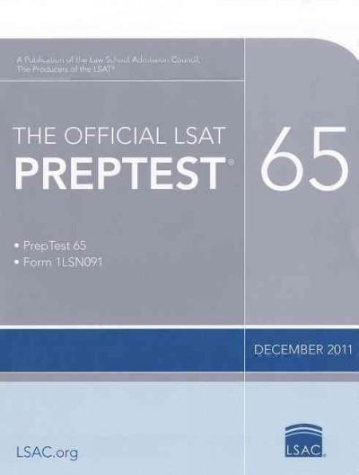 The Official LSAT Preptest 65: December 2011 (Paperback)