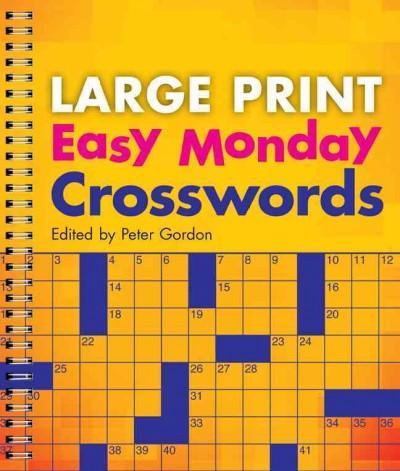 Easy Monday Crosswords (Paperback)
