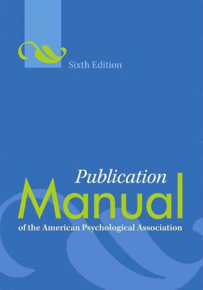 Publication Manual of the American Psychological Association (Paperback)