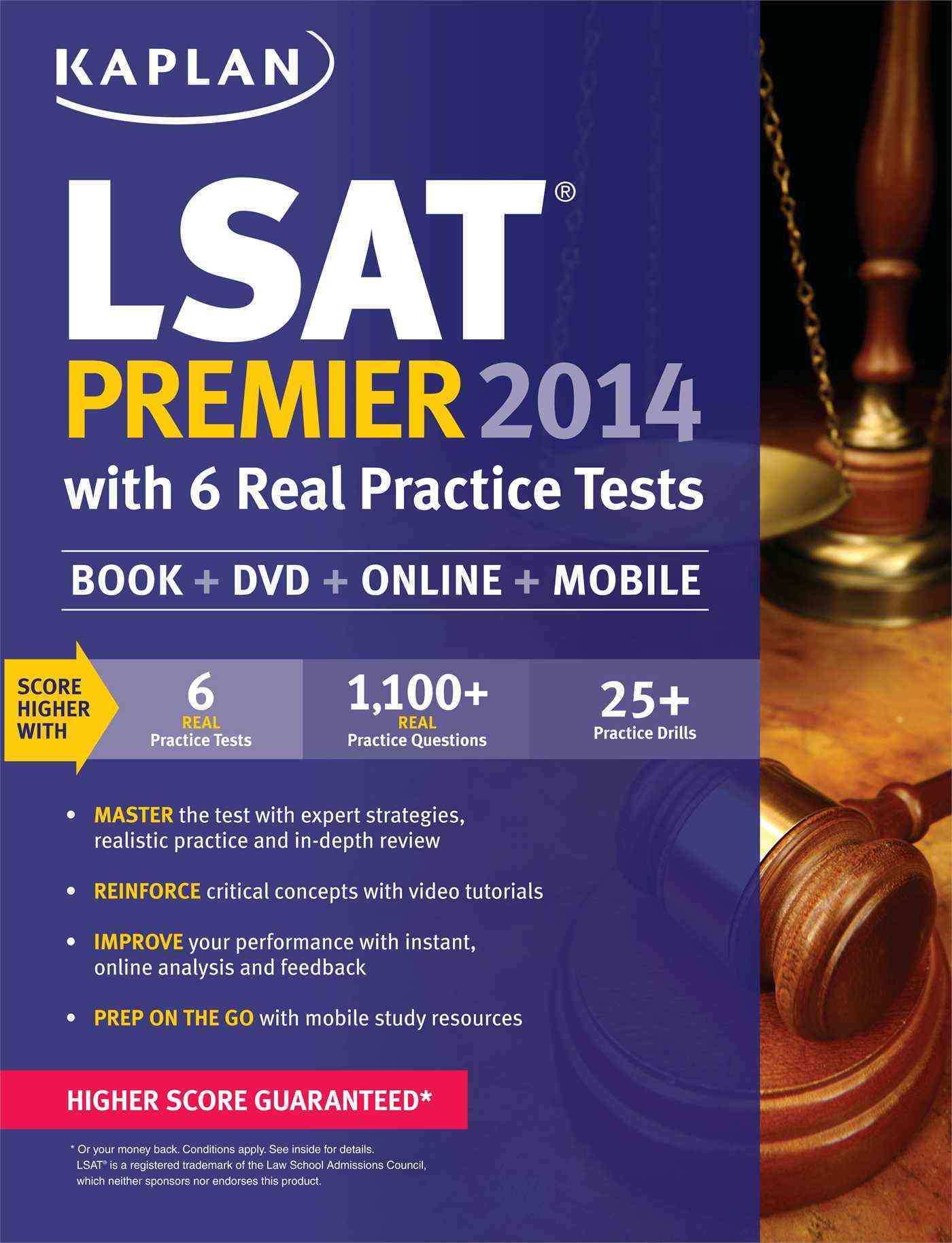 Kaplan LSAT Premier 2014: With 6 Real Practice Tests