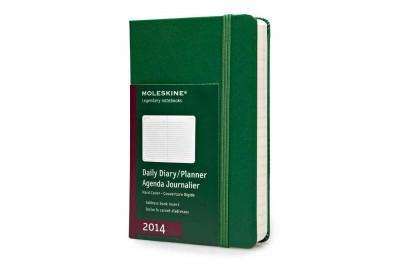 Moleskine 2014 Planner 12 Month Daily Oxide Green Pocket (Calendar)