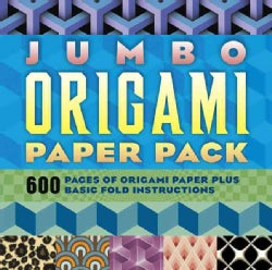Jumbo Origami Paper Pack: 600 Pages of Origami Paper Plus Basic Fold Instructions (Paperback)