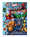 Marvel Heroes Save the Day: A Panorama Sticker Storybook (Paperback)