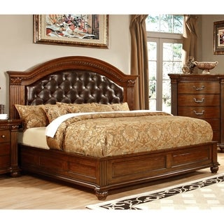 Furniture of America Vayne II Traditional Cherry Platform Bed