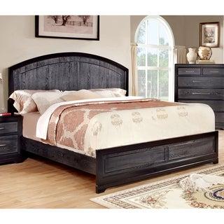 Furniture of America Stonehall I Contemporary Grey Platform Bed