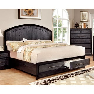 Furniture of America Stonehall II Contemporary Grey Platform Bed