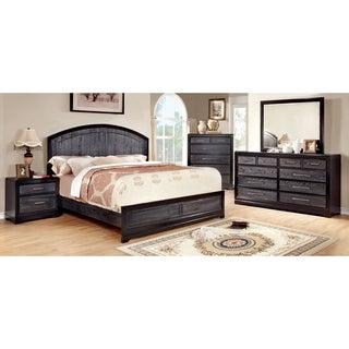 Furniture of America Stonehall I Contemporary Grey 4-Piece Bedroom Set