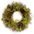 Green/ Lavender 24-inch Fern and Lavender Wreath