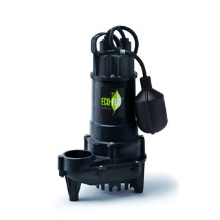 Eco-Flo ECD75W 0.75 HP Cast Iron Submersible Sump Pump with Wide Angle Switch (6300 GPH)