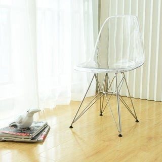 Paris Tower Acrylic Side Chair (Set of 2)