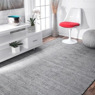 nuLOOM Handmade Fancy Trellis Wool/ Cotton Rug (9' x 12')