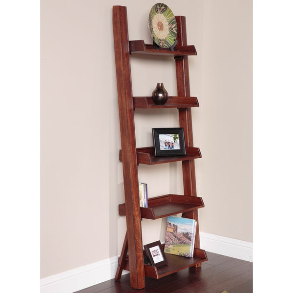 Five Shelf Ladder Bookcase Overstock Shopping Great Deals On Media Bookshelves