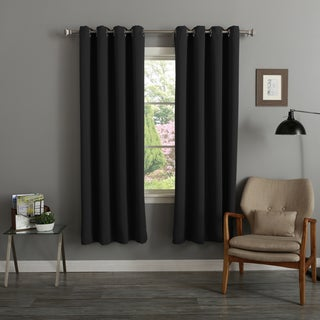 Lights Out Silver Grommet Top Thermal Insulated 72-inch Blackout Curtain Panel Pair