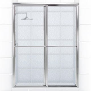 Newport Series 58 in. x 58 in. Framed Sliding Tub Door with Towel Bar in Chrome with Aquatex Glass