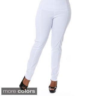 Hadari Women's Plus Size Straight Leg Pants
