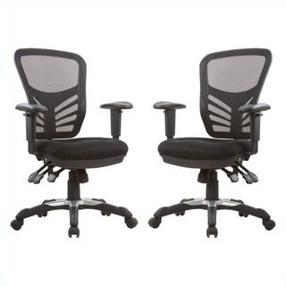 Manhattan Comfort Gouvernor Executive Mesh High-Back Adjustable Office Chair (Set of 2)