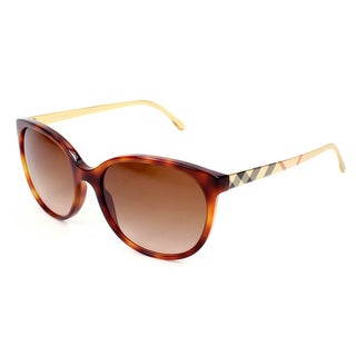 Burberry BE4146 Women's Havana Plastic Sunglasses