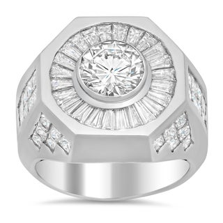 Platinum Men's 6ct TDW Certified Diamond Wedding Ring (G-H, VS1-VS2)