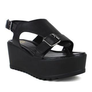 Fahrenheit Women's Angela-04 Slingback Platform Sandals