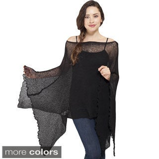 Women's Butterfly Sleeve Light Netted Bali Sweater Top (Indonesia)