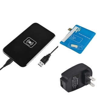 Insten Qi Black Wireless Power Charger Charging Pad With Receiver for Samsung Galaxy Note 2 II N7100