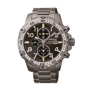 Seiko Men's SSC307 Stainless Steel Solar Alarm Chronograph Watch