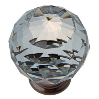 GlideRite 1.57-inch Clear K9 Crystal Cabinet Knobs Oil Rubbed Bronze (Pack of 10 or 25)