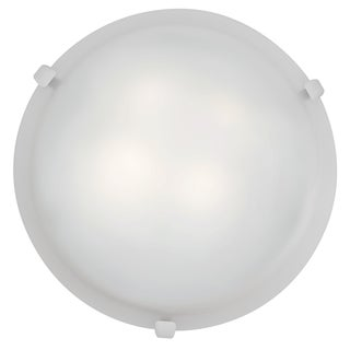 Access Lighting Mona LED 16-inch Wall/ Flush Mount, White with White