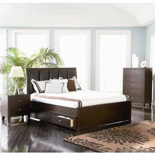 Laguna Beach 3-piece Cappuccino Bedroom Set