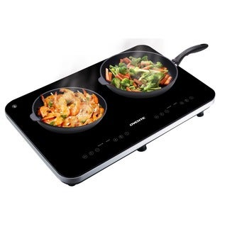 Ovente BG62B Portable Ceramic Double Induction Cooktop, Black