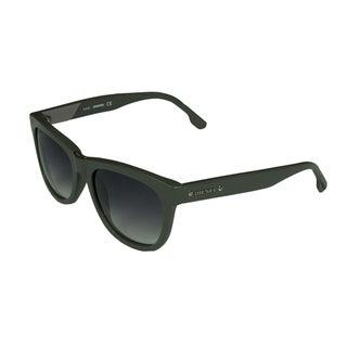 Diesel Men's Greyish Green Fashion Sunglasses