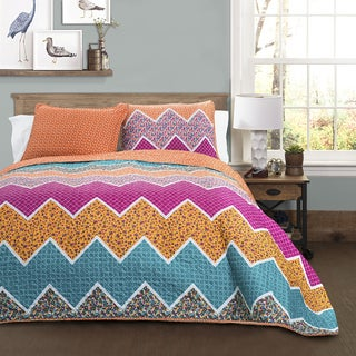 Lush Decor Everlyn Chevron 3-Piece Quilt Set