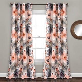 Lush Decor Leah Room Darkening 84-Inch Curtain Panel Pair