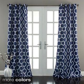 Lush Decor Chainlink 84-Inch Room Darkening Curtain Panel Pair