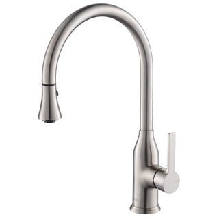 Rivuss Aureus Brushed Nickel Single Lever Solid Brass Pull-down Kitchen Faucet