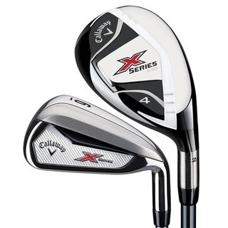 Callaway Men's X-Series N415 Hybrid Irons Set, Graphite/Steel