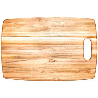 Proteak Rounded Rectangle Edge Cutting Board with Centered Handle