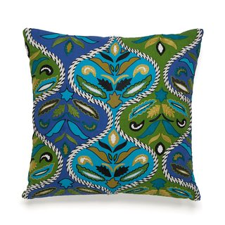 Collier Campbell Pondicherry Embroidered 16-inch Decorative Throw Pillow