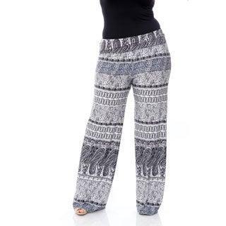Women's Plus-size 'Greystone Columns Paisley' Palazzo Pants