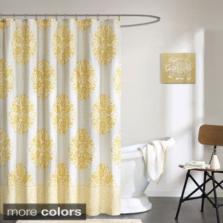 Ink+Ivy Melbourne Cotton Printed Shower Curtain--2 Color Options